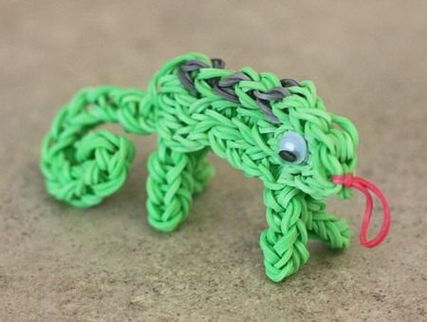 Rainbow Loom Chameleon. Rainbow Loom is a plastic loom used to weave colorful rubber bands into bracelets and charms. It is one of the top gifts for kids.
