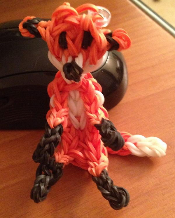 Rainbow Loom Fox. Rainbow Loom is a plastic loom used to weave colorful rubber bands into bracelets and charms. It is one of the top gifts for kids.