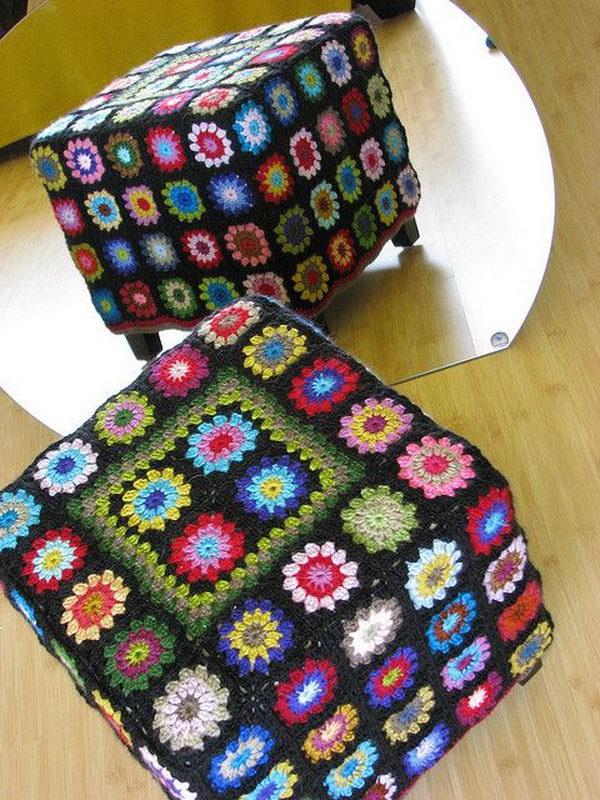 Crochet Ottoma.