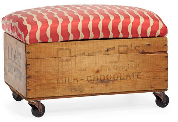 Rolling storage bench. Allow you to store books, shoes and other items in the bench, and sit on it while having the supply's in the compartments.