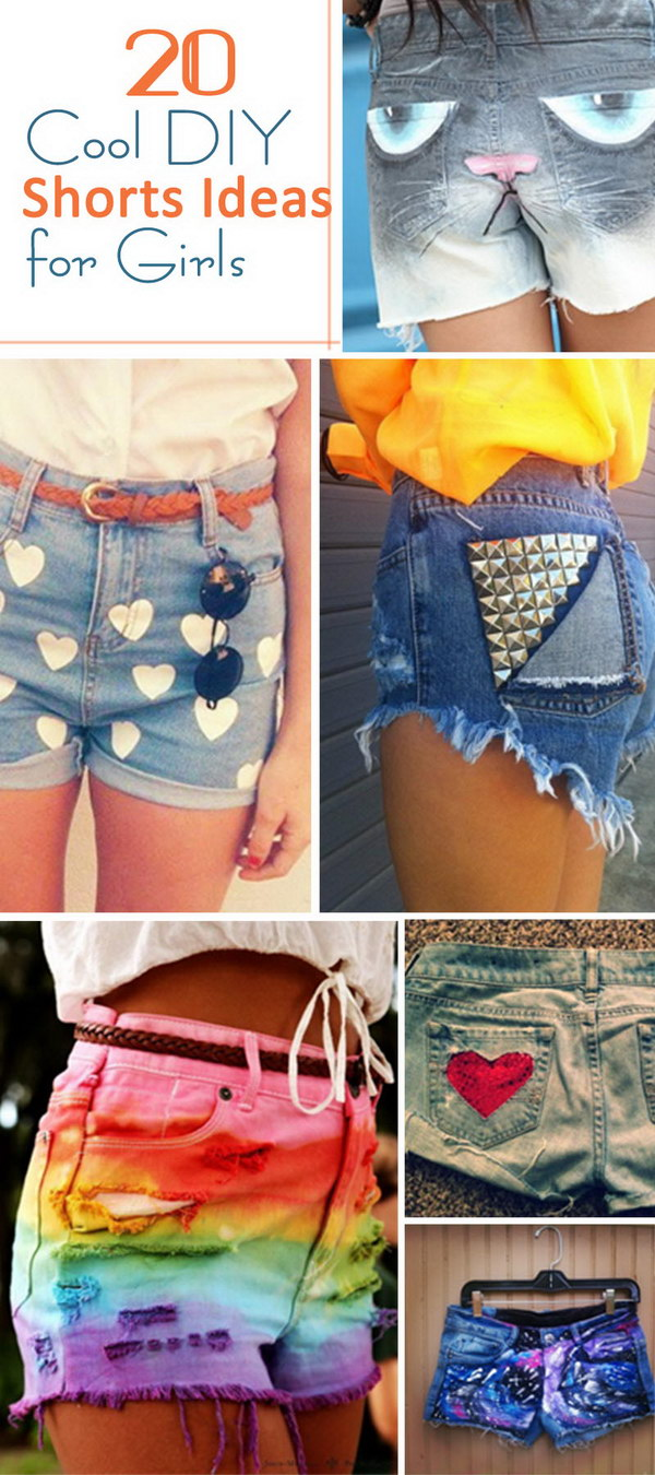 Cool DIY Shorts Ideas for Girls!