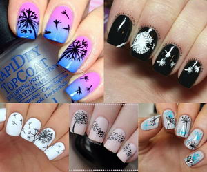 Cute Dandelion Nail Art Designs