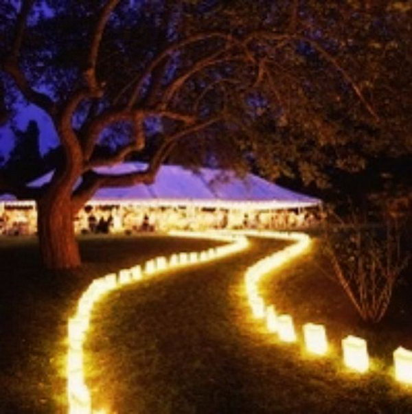 Lantern Illuminating Wedding. If your wedding receptions happen to take place outdoors in the evening, it's fantastic to display lines of lanterns to illuminate your wedding party as well as create a dreamy and romantic atmosphere.
