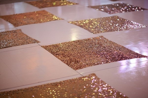 Glittering Dance Floor. It's fantastic to get everyone to dance on such a glittering dance floor to celebrate the great event for the sweet couple with joy and a lot of fun.