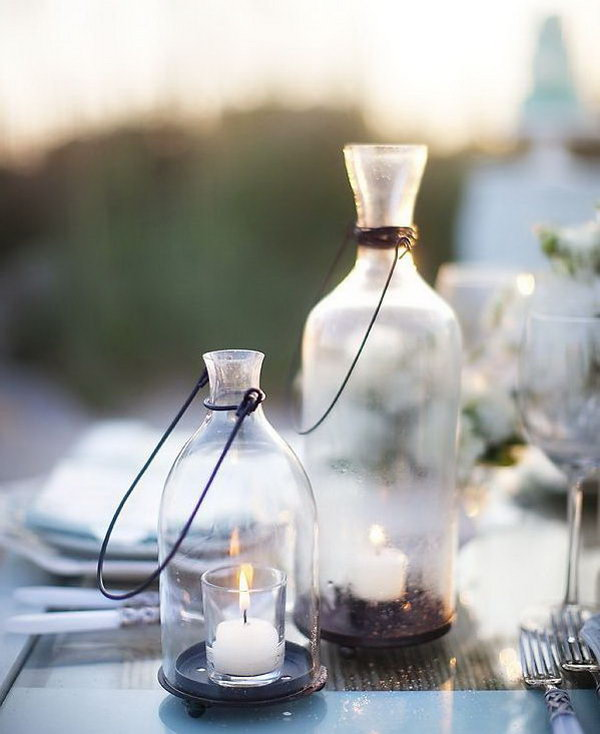 Wedding Candle Ideas. It's very necessary to set up the romantic tone for your sweet wedding ceremony with candles in glass jars to create a dreamy, soft outlook.