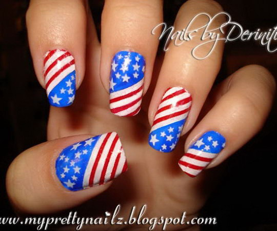 30+ American Flag Inspired Stripes and Stars Nail Ideas & Tutorials