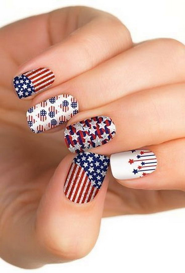 Clean and Fancy Look: Rooting for the patriot, I am loving this fantastic patriotic manicure.