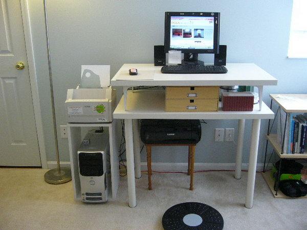Double-Decker Computer Desk.