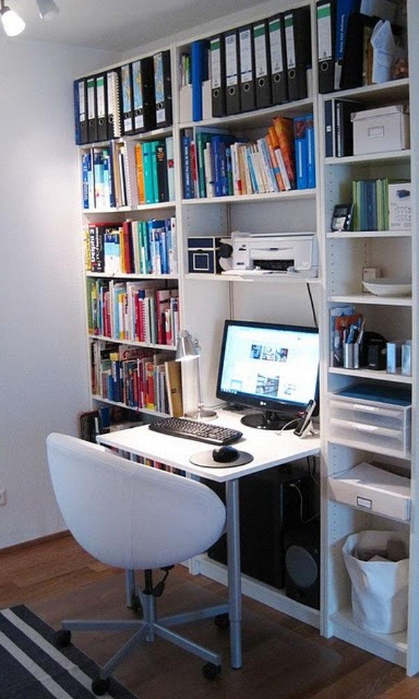 Billy Bookcase Computer Desk.