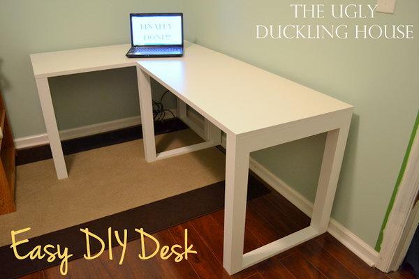 Easy DIY L Shaped Desk.