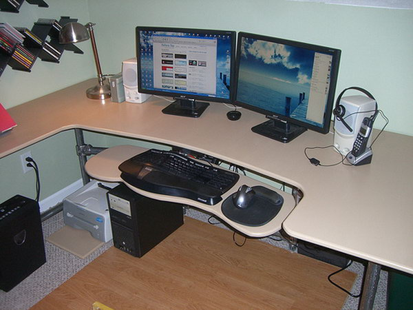 Custom Ergonomic Computer Desk.