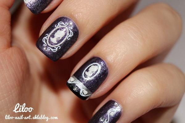 Vintage Maiden Nail Art.