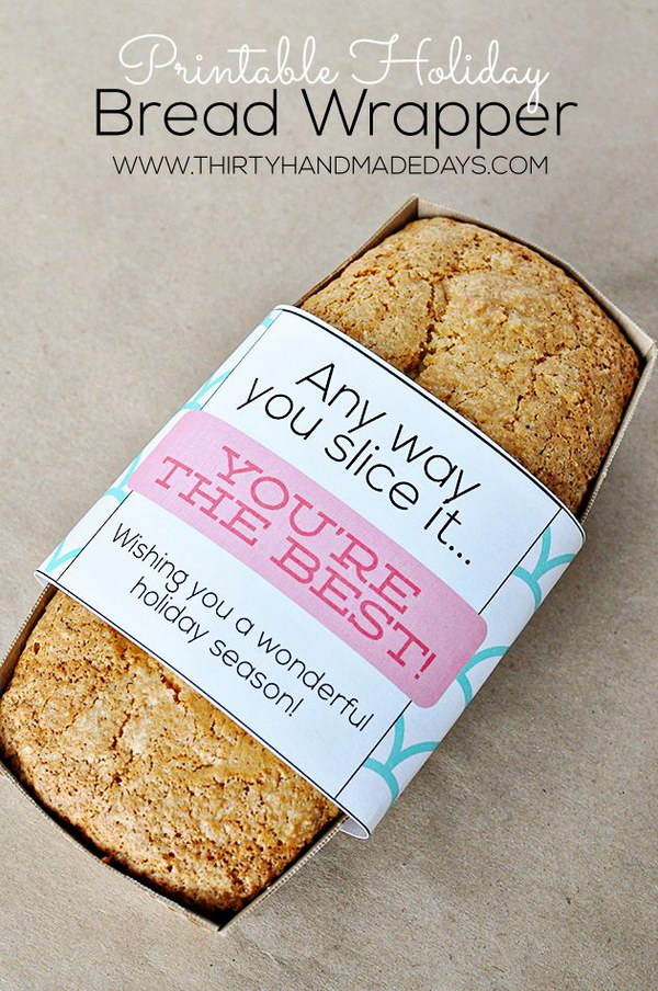 Homemade Bread and Free Printable Gift Wrapper