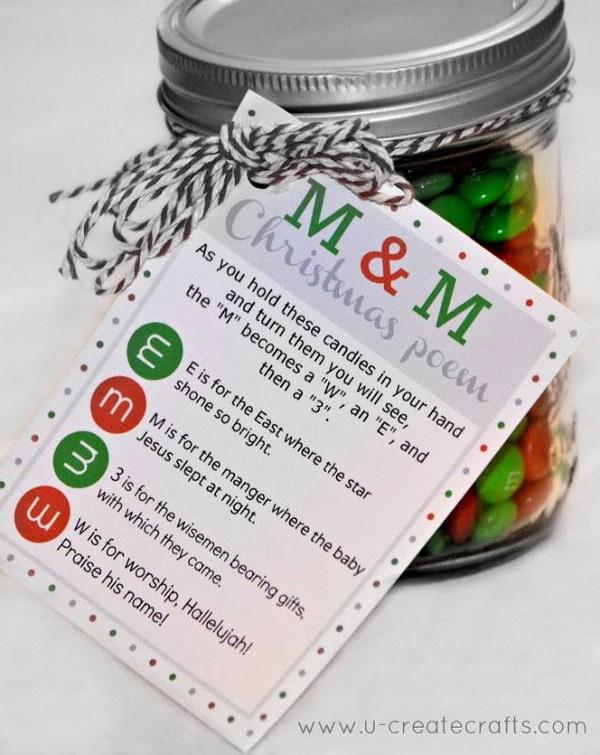 M&M Christmas Printable Poem