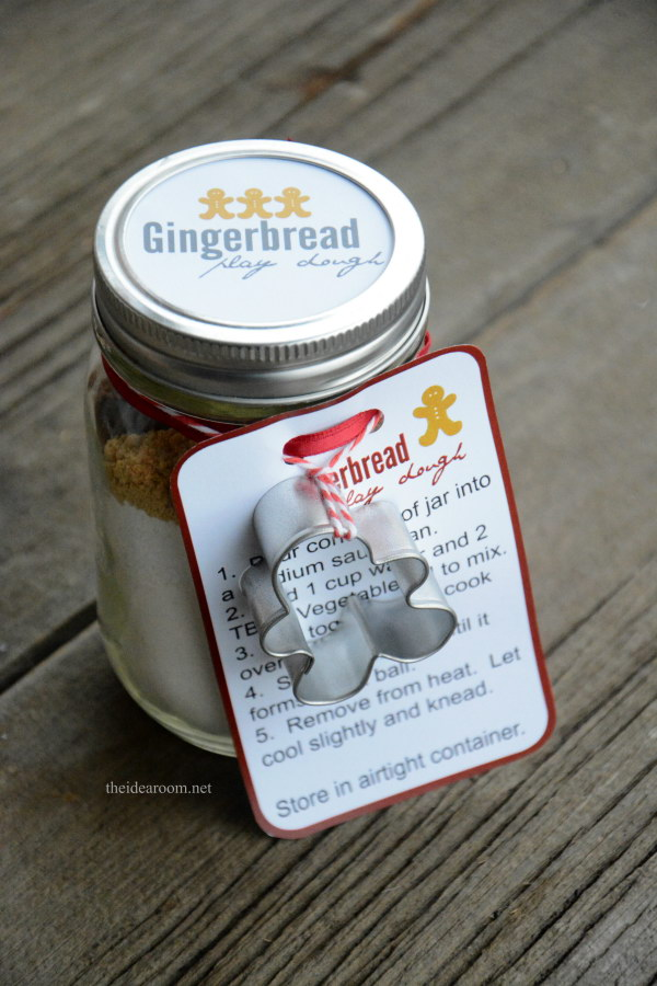 Gingerbread Play Dough Gift Kit. The gingerbread man in a jar play dough kit is a sweet little gift that brings the Gingerbread Man story to life. And it makes the perfect holiday gift or party favor for kids and family!