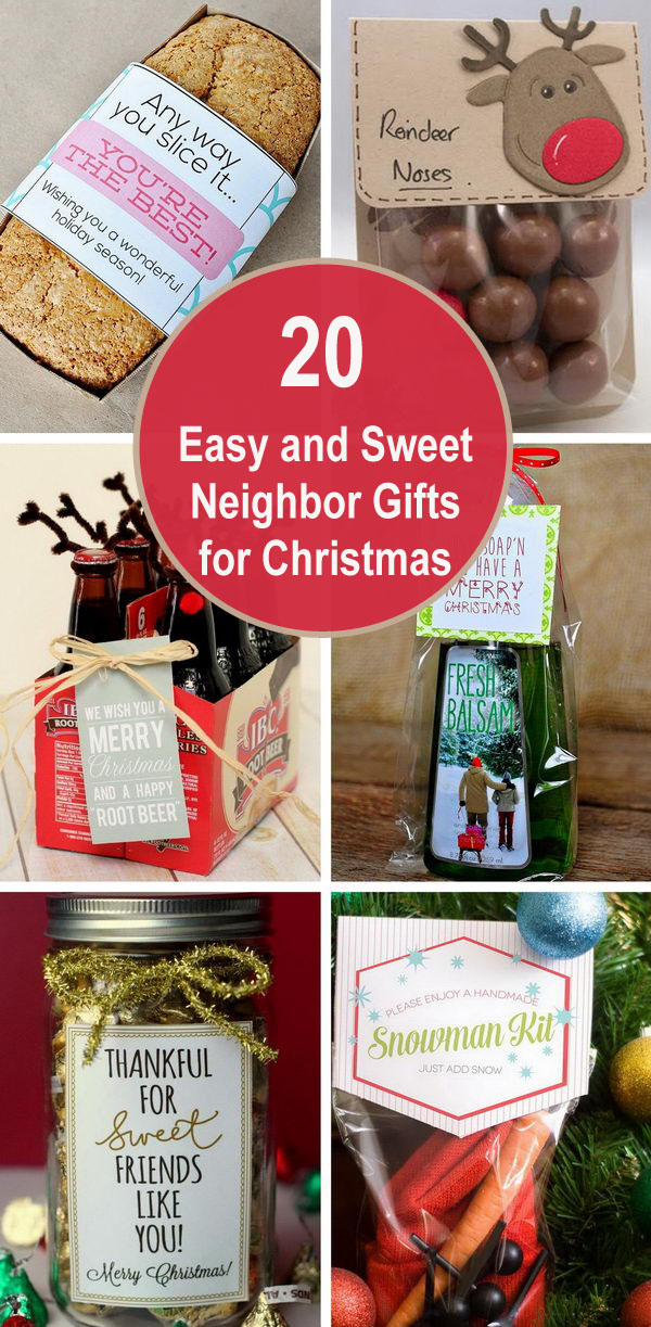 20+ Easy and Sweet Neighbor Gifts for Christmas.