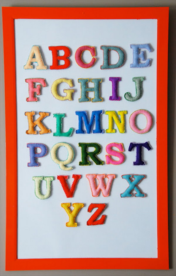 DIY Magnetic Felt ABC'S