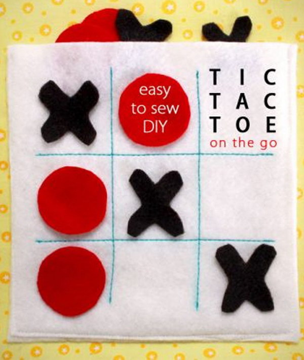 Felt Travel Tic-Tac-Toe