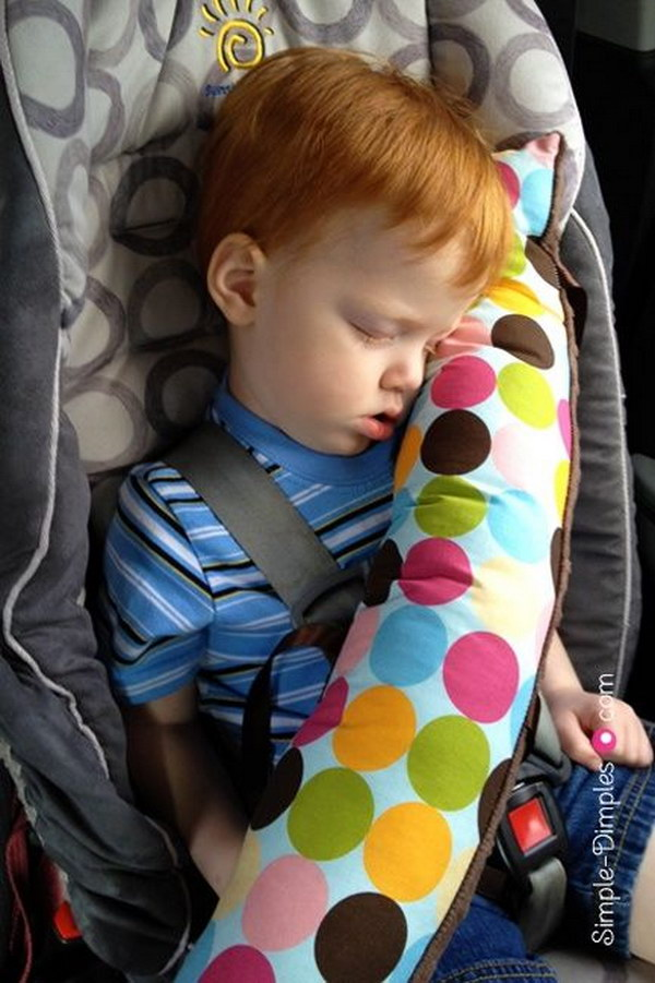 DIY Seatbelt Pillow
