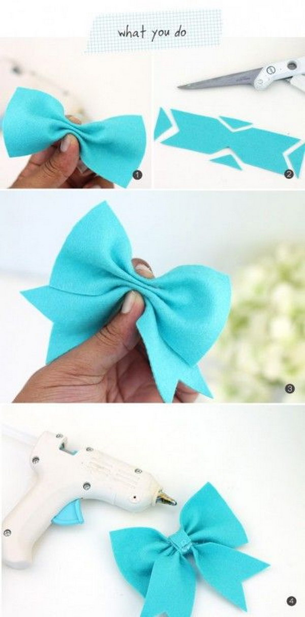 No-Sew Felt Hairbow