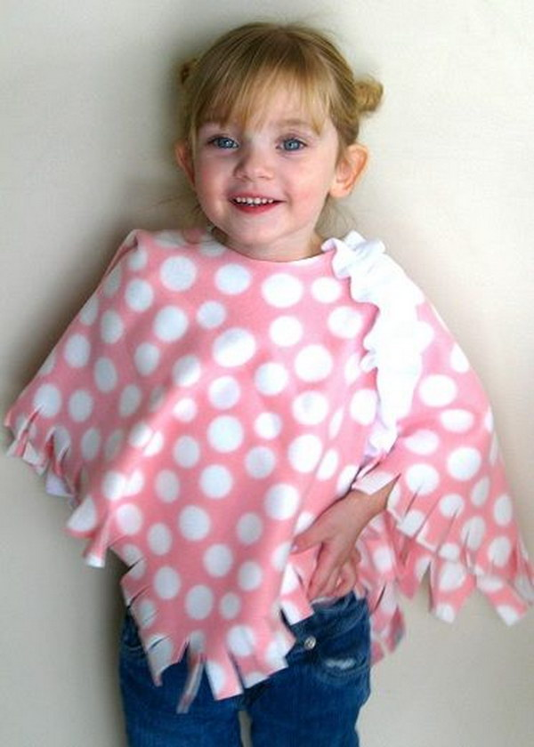 No-Sew Toddler Poncho