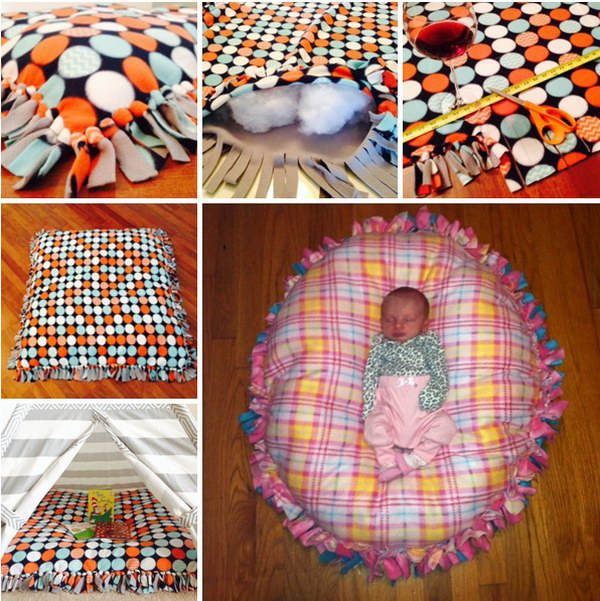 No-Sew Floor Pillow