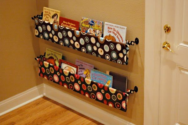 No-Sew Fabric Book Storage