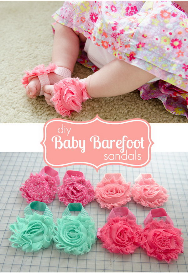 No-Sew Baby Barefoot Sandals