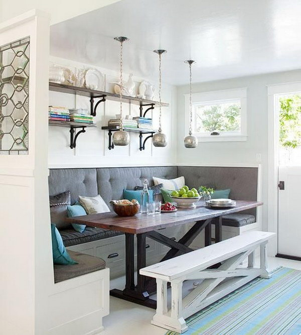 Awesome Breakfast Nook with Built-in Bench.