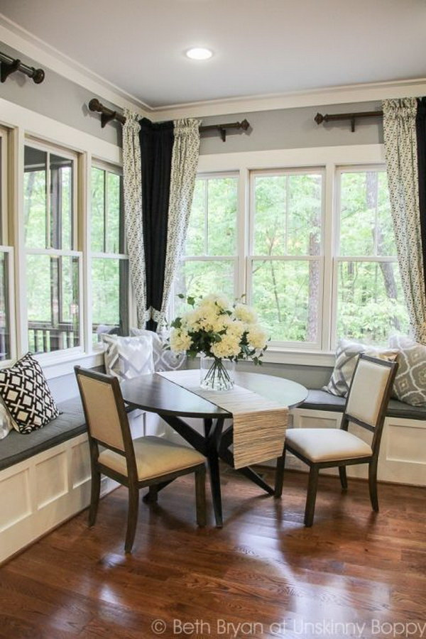 Breakfast with Built-in Banquette Seating.