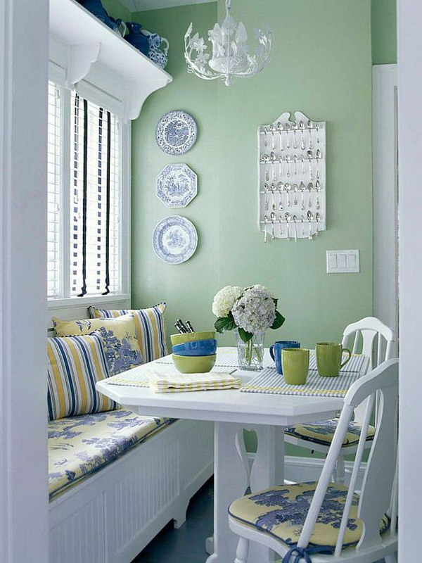 Vibrant and Fresh Breakfast Nook.