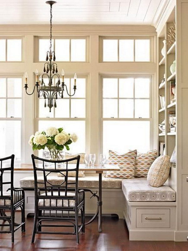 Multipurpose Breakfast Nook with the Built-in Storage.