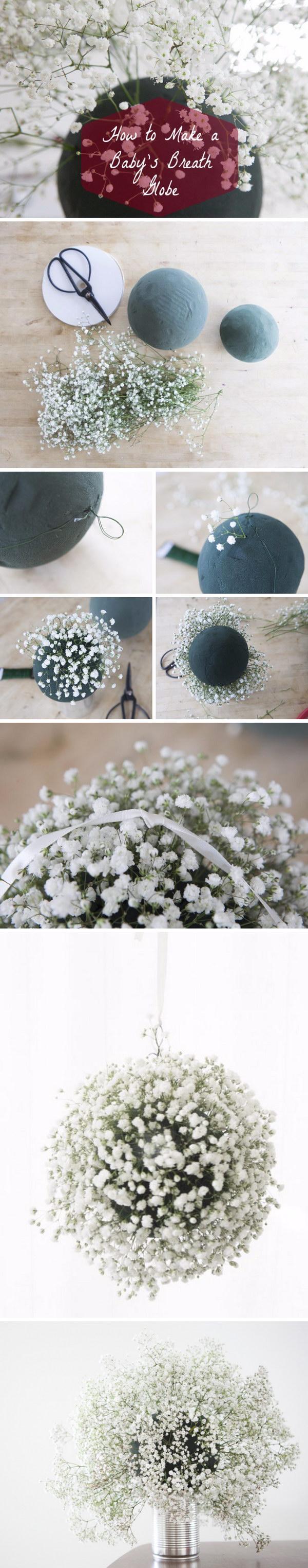 DIY Baby's Breath Wedding Globes