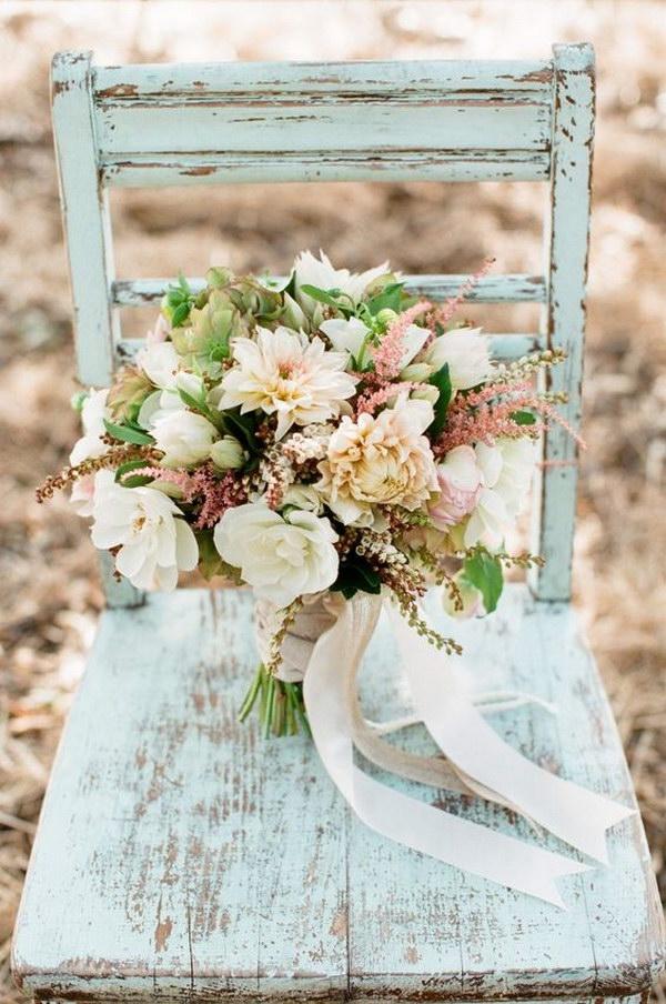 DIY Rustic Vintage Wedding Bouquet