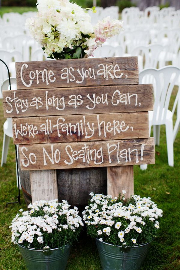 Rustic Sit Anywhere Sign