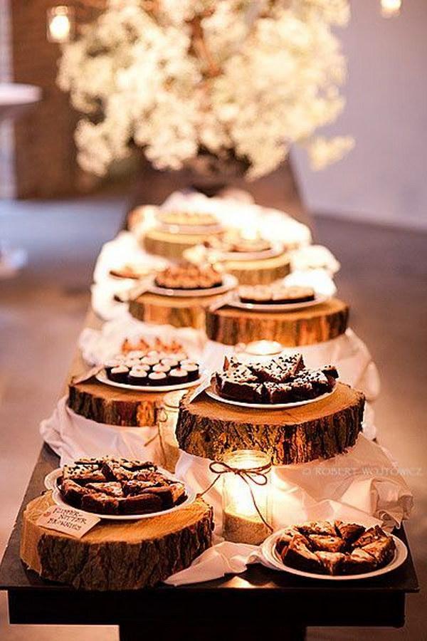 Log Rounds Dessert Buffet
