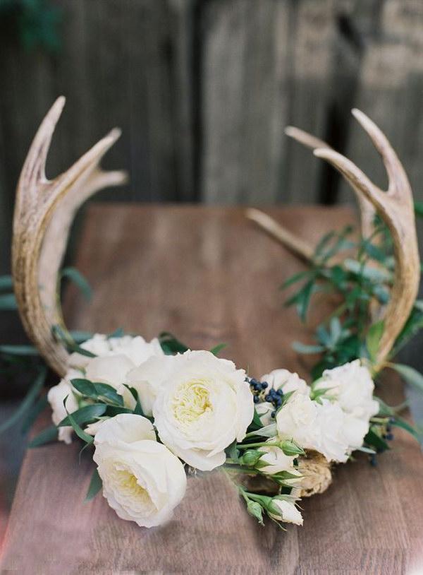 DIY Flower Crown with Antlers Tutorial
