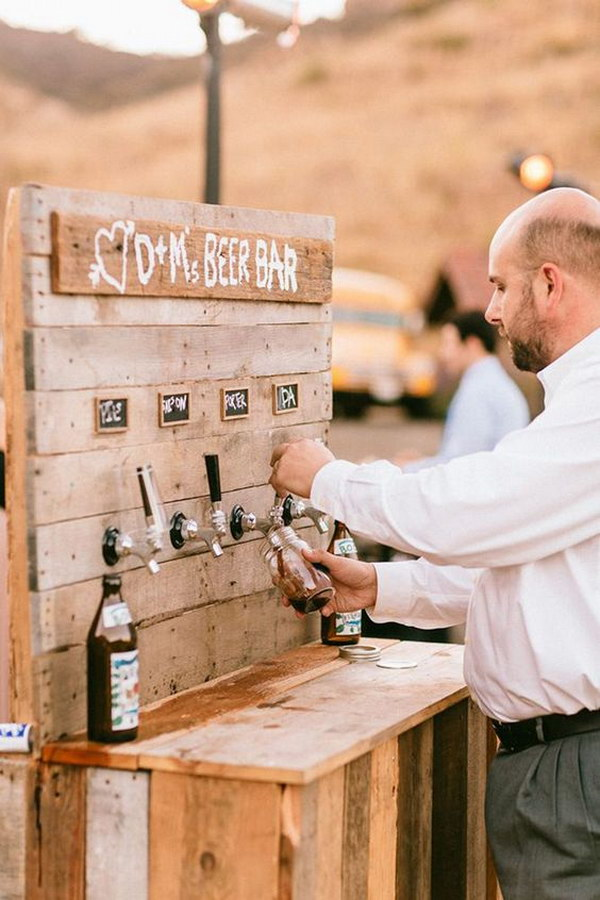 Rustic Cocktail Bar or Drink Station