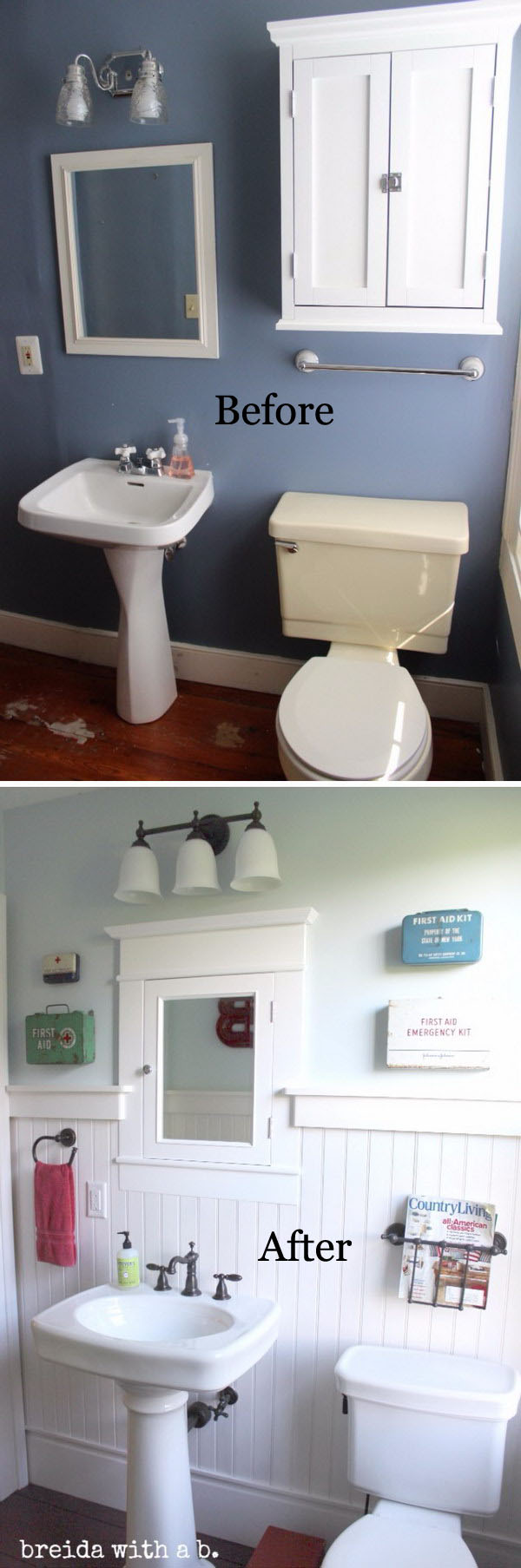 Farmhouse Bathroom Renovation.