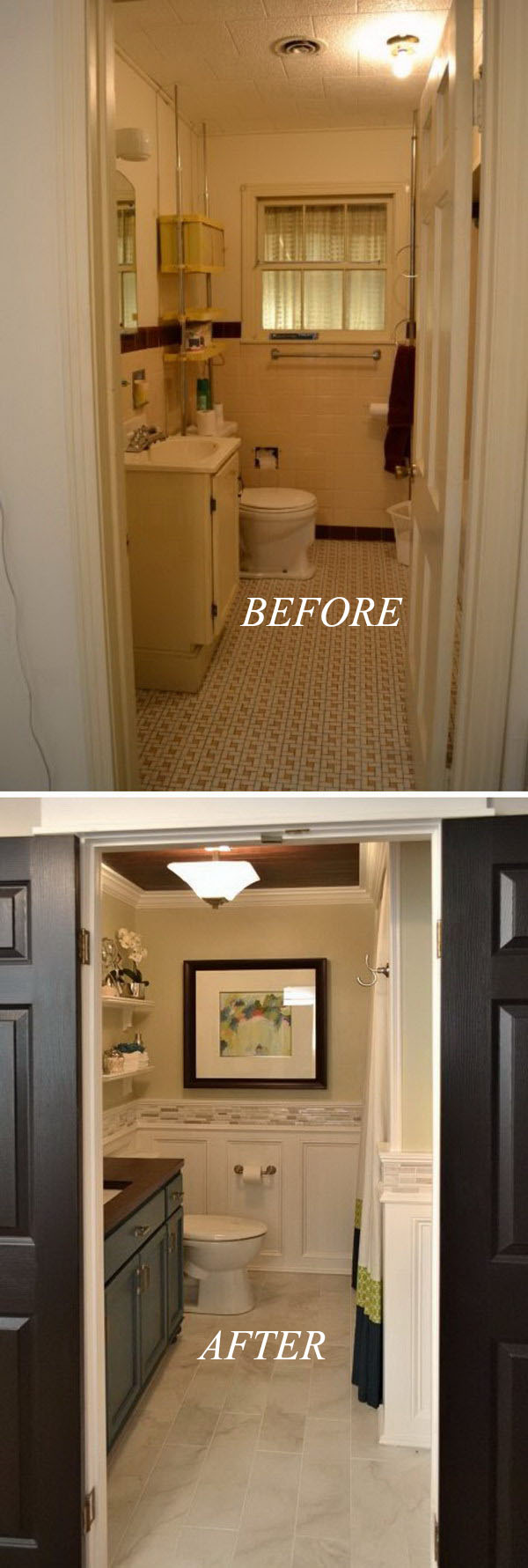 Hallway Bathroom Remodel.