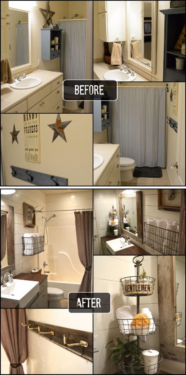 Rustic Bathroom Makeover.