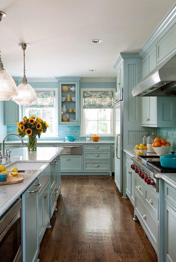 Blue Kitchen Cabinet.
