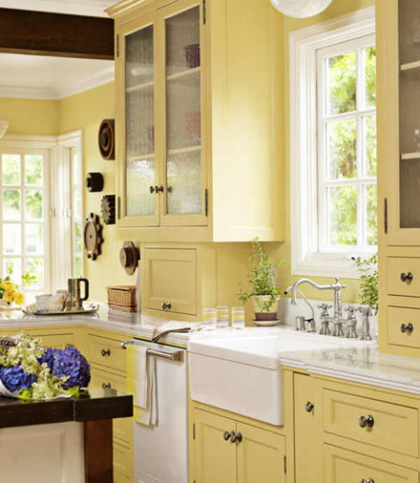 Yellow Kitchen Cabinet.