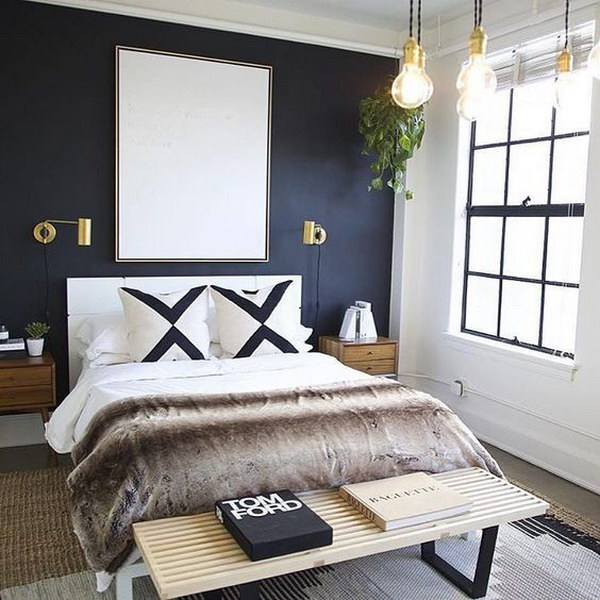 Painting one wall a darker color than the surrounding walls will add a sense of depth.