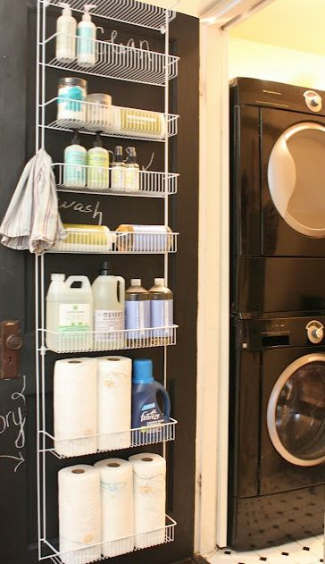 Hang Storage Rack Behind The Door For Organized Space.