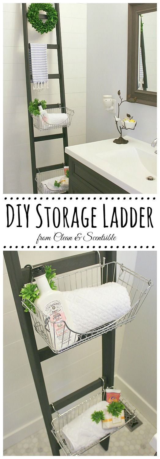 DIY Ladders are a Great Way to Add Some Extra Storage in a Tiny Space.