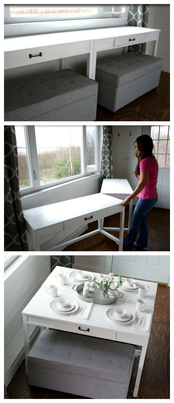 DIY Convertible Desk.