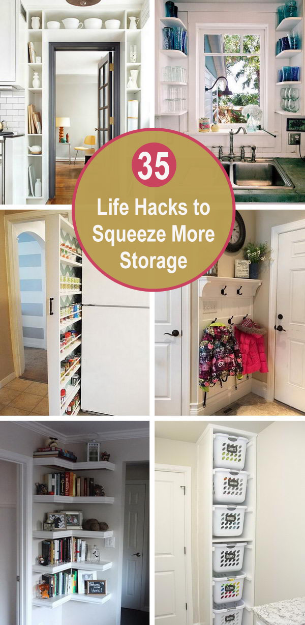 35 Life Hacks To Squeeze More Storage Out Of Small Spaces.