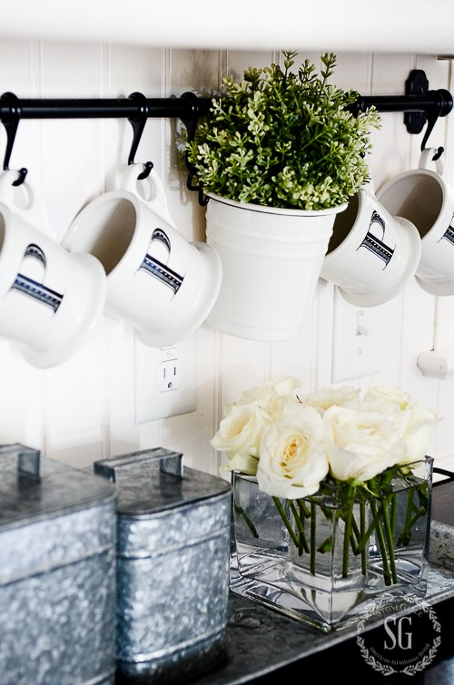 Pretty Kitchen Cup Hooks.