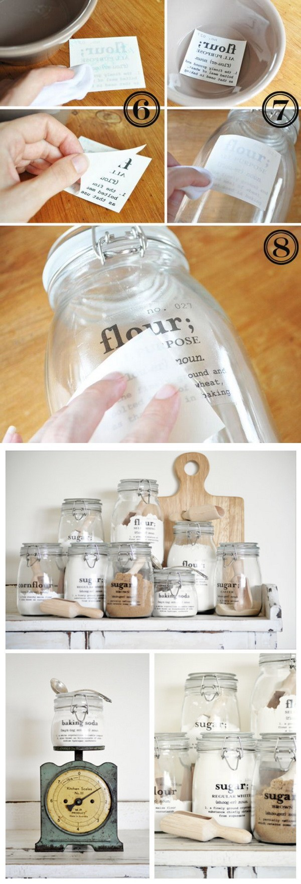 DIY Kitchen Containers With Labels.